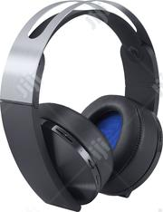 Sony Platinum Wireless 7.1 Virtual Surround Sound Gaming Headset PS4 | Headphones for sale in Lagos State, Ikeja