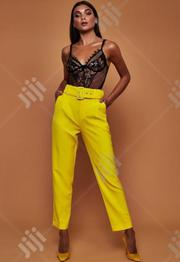 New Women High Waist Pant With Belt   Clothing Accessories for sale in Lagos State, Victoria Island
