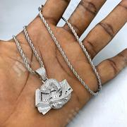 Stylish Men's Steel Iced Necklace N Pendant | Jewelry for sale in Lagos State, Ikorodu