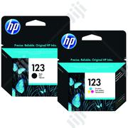HP 123 Tri-color& Black Original Ink Cartridge   Accessories & Supplies for Electronics for sale in Abuja (FCT) State, Wuse 2