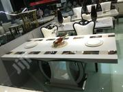 Luxury Rectangular 6-seater Dining Set With Marble Top (ZDS-006) | Furniture for sale in Lagos State, Ajah
