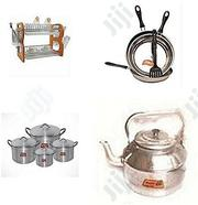 Set of Cooking Utensils- Pots (4), Frying Pan (3) ,Kettle, Plate Rack | Kitchen & Dining for sale in Lagos State, Lagos Island