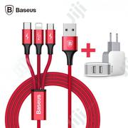 Baseus Charge Set 3 In 1 Cable | Accessories for Mobile Phones & Tablets for sale in Lagos State, Ikeja