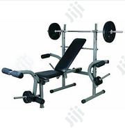 Weight Lifting Bench With 50kg Weight Set And Bar Pro | Sports Equipment for sale in Abuja (FCT) State, Jabi