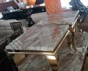 High Quality Marble Center Table With 2 Side Stool. | Furniture for sale in Abuja (FCT) State, Gwarinpa