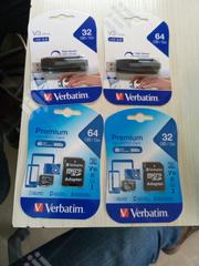 Verbatim Flash Drive And Phone Memory Card 32GB & 64GB | Accessories for Mobile Phones & Tablets for sale in Lagos State, Lagos Mainland