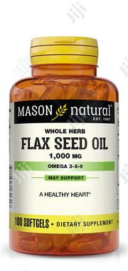 Mason Flaxseed 1000mg by 100 Softgel | Vitamins & Supplements for sale in Lagos State, Ikeja
