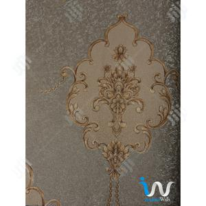 Gold Floral in Grey II Wallpaper