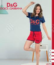 D G Blue Top and Red Short Set   Clothing for sale in Lagos State, Isolo