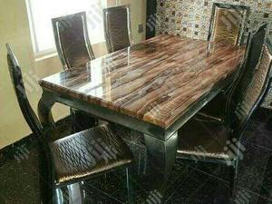 A New High Quality Six Seater Marble Dining Table