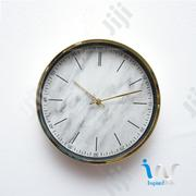 "Gold (White) Metal Finish Wall Clocks ""30cm"" 