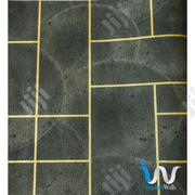 Gold Rectangle in Army Green Suede Wallpaper   Home Accessories for sale in Abuja (FCT) State, Gwarinpa