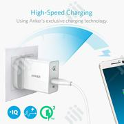 Anker 18W Powerport+ 1 With Quick Charge 3.0 and Micro USB 3ft Cable | Accessories for Mobile Phones & Tablets for sale in Lagos State, Lagos Island