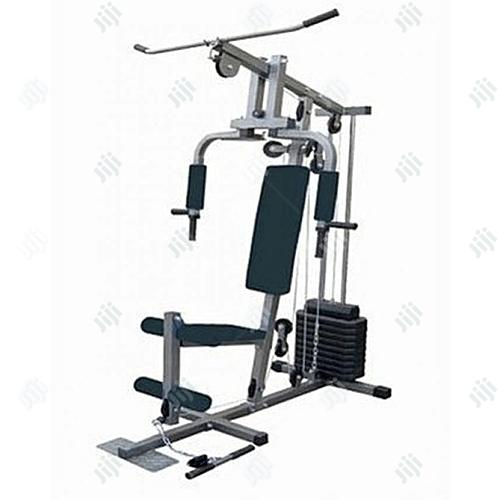 One Multi Station Gym With 50kg Vinyl Weight Stack.