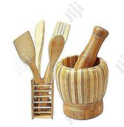Mortar,Pestle,Wooden Spoon Set | Kitchen & Dining for sale in Lagos State, Magodo