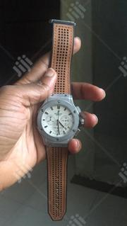 Hublot Brown Leather Wristwatch   Watches for sale in Lagos State, Ikeja