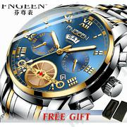 Fngeen Quartz Watch Men Stainless Steel Mens Watches Watch | Watches for sale in Lagos State, Ifako-Ijaiye