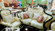 Royal Gold Complete Set Italian Sofa/Chair | Furniture for sale in Lagos State, Ikeja
