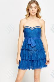 Lace Overlay Bandeau Mini Dress | Clothing for sale in Lagos State, Amuwo-Odofin