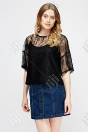 Lace Overlay Box Top - 0056 | Clothing for sale in Lagos State, Amuwo-Odofin