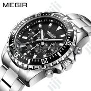 Luxury Business Quartz Watch Men Stainless Steel Waterproof Wristwatch | Watches for sale in Lagos State, Lagos Mainland