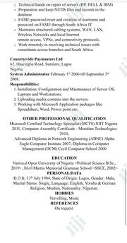 Desktop And Server Specialist | Computing & IT CVs for sale in Lagos State, Lagos Mainland