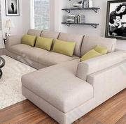 L Shape Sofa Chair With Throw Pillow for Your Sitting Room. | Furniture for sale in Lagos State, Lekki Phase 1