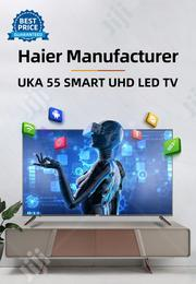UKA 55 Smart LED UHD TV - Haier Manufacturer - Black | TV & DVD Equipment for sale in Abuja (FCT) State, Central Business District