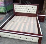 6by6 Bed Frame With Original Mouka Mattress | Furniture for sale in Lagos State, Ojo