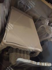 White Wooden Royal Dinning Tables With 6 Fabric Chairs in Abuja | Furniture for sale in Abuja (FCT) State, Garki II