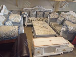 Royal 7 Sets of Sofas With Mable Center Table in Abuja