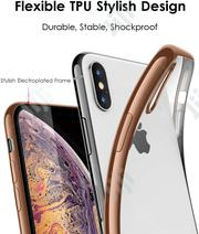 iPhone X/Xs Clear Case With Gold Stylish Trim | Accessories for Mobile Phones & Tablets for sale in Lagos State, Ikeja