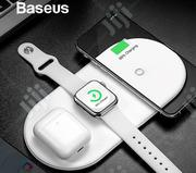 Baseus 3 in 1 Wireless Fast Charger | Accessories for Mobile Phones & Tablets for sale in Lagos State, Ikeja