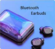 F9 Bluetooth 5.0 TWS Earbud Headset With LED Display Power Bank Case | Headphones for sale in Lagos State, Ikeja