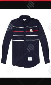 Thom Browne Chest Strip Long Sleeve Shirt Navy Blue | Clothing for sale in Lagos State, Surulere