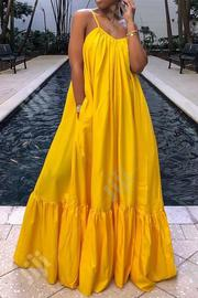 Sleeveless Floor Length Plain Dress | Clothing for sale in Lagos State, Amuwo-Odofin