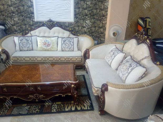6-Seater Luxury Sofa Set With Center Table and 2 Side Tables