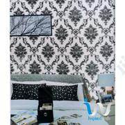 White (Sliver) Black Damask Wallpaper | Home Accessories for sale in Abuja (FCT) State, Gwarinpa