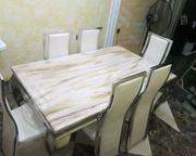 Durable Marble Dining Table With Six Chairs | Furniture for sale in Abuja (FCT) State, Mpape