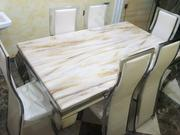 Marble Dining Table With Six Chairs | Furniture for sale in Abuja (FCT) State, Gwarinpa
