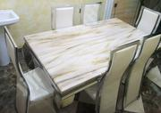 High Quality Marble Dining Table With Six Chairs | Furniture for sale in Abuja (FCT) State, Kabusa