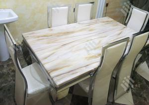 High Quality Marble Dining Table With Six Chairs