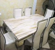 Quality Affordable Marble Dining Table With Six Chairs | Furniture for sale in Abuja (FCT) State, Duboyi