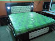 Kings Size Light Bed Frame With Original Imported Mattress | Furniture for sale in Lagos State, Ojo