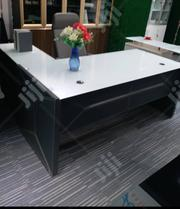 White Glass And Grey Leather Executive Table | Furniture for sale in Lagos State, Lekki Phase 1