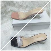 Transparent Cover Glass Herl Slippers | Shoes for sale in Lagos State, Ikoyi