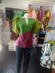 Ankara And Organza Blouse | Clothing for sale in Lagos State, Lekki Phase 1