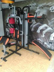 Brand New Three Station Gym With Punching and Situp Bench | Sports Equipment for sale in Imo State, Owerri North