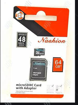 64GB Microsdxc UHS-I Memory Card With Adapter