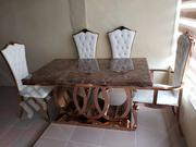 Higher Quality's of Dining Gold Stainless Leg With Six Chairs | Furniture for sale in Lagos State, Ojo